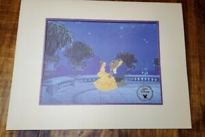 Beauty and the Beast Disney Exclusive Commemorative Lithograph Print bonus Book $35.00