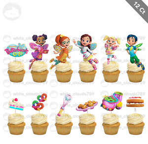 12 Butterbean#x27;s Cafe Poppy Cricket Cupcake Cake Topper Food Pick Favor Party $10.25