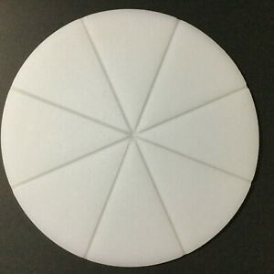Pizza Cutting Board Round 15 inch Chopping Board With 8 Slice Grooves
