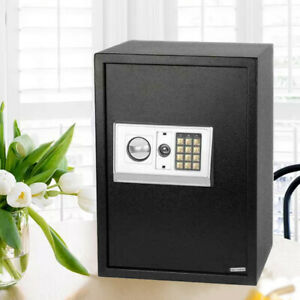 Black Large Digital Electronic Safe Box Keypad Lock Security Home Office Hotel $58.89