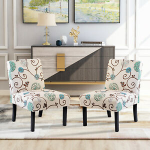 Accent Chair Armchair Armless Set of 2 Living Room Bedroom Chair Upholstered $167.89
