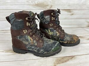 Mens Brahma Boots Camo Hunting Size 7.5 Thinsulate Ultra Insulation 400 G