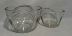 Pampered Chef Prep Bowsl 1 1 2 Cup amp; 3 4 375 175 ml Clear Glass Measuring Cups $9.89