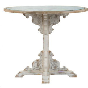 Aamp;B Home 44991 DS Anita 36 inch Weathered White Table
