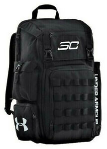 Under Armour SC30 Steph Curry Backpack Basketball Bag Black Silver 1262140 001 $79.95