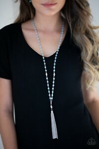 Paparazzi Tassel Takeover Blue Necklace