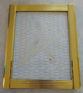Original Abstract Modern Art Titled quot;Silver Goldquot; by lonelytiger Framed 9.5x11 $199.95