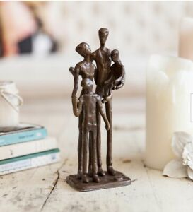Family of Four Bronze Sculpture $36.00