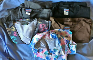 Cherokee Scrubs lot of 5 Misc Prints Colors $7 ship