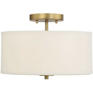 Light Visions PL0041NB Modern Contemporary Semi Flush Mount Natural Brass $94.50