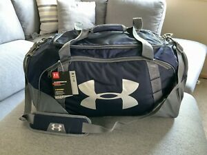 Under Armour Undeniable 3.0 Duffle Bag Large 82L New With Tags NAVY GRAY $35.99