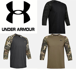 Under Armour UA Mens Camo Long Sleeve Utility Raglan Hunting T Shirt 1345955 $20.99
