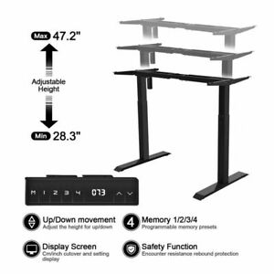 Single Motor Electric Standing Desk Frame Sit Standing Table Memory Control US $199.99