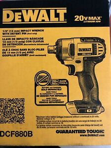 NEW DEWALT DCF880B 20V MAX Cordless Li Ion 1 2 in. Impact Wrench Tool Only $104.95
