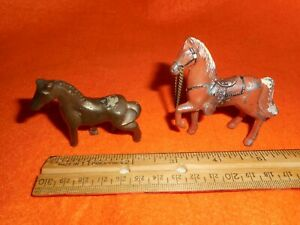 Two Small Vintage Metal Horses $5.99