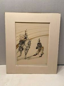 Color Lithograph Signed Stamped Numbered Henri de Toulouse Lautrec $550.00