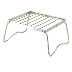 Stainless Steel Portable Folding Stove Stand Camping Hiking Cooking Picnic Tools