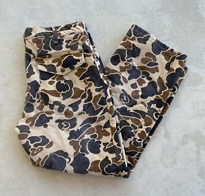 VINTAGE USA MENS 10x CAMO CAMOUFLAGE HUNTING THINSULATE PANTS SIZE 36 SHORT
