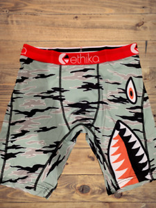 Ethika Mens The Staple Fit Red Camo Warplane Boxer Brief Underwear Brand New $15.55