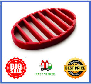 NORPRO OVAL SILICONE ROAST RACK RED 405 FREEamp;FAST SHIPPING $14.99