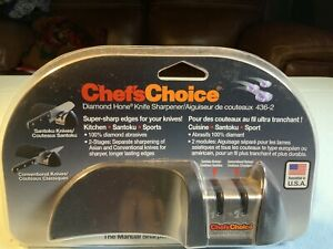 NEW Chef'sChoice Diamond Hone knife sharpener 436 2 Kitchen Cuisine Sport NIB