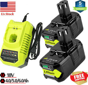 For RYOBI P108 18V One Plus High Capacity 18Volt Lithium Ion Battery or Charger