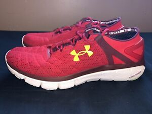 Under Armour Charged Speedform Fortis Mens Running Shoes Red Mens US 11 $39.99