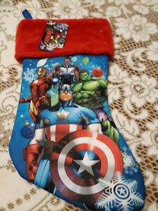 AVENGERS CHRISTMAS STOCKING NEW WITH TAG MARVEL $14.88