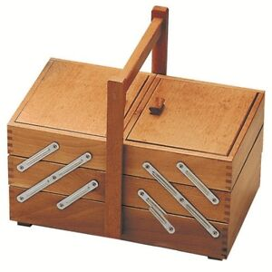 Panetta Basket Sewing Baskets To 3 Tier Sewing Box A Ladder IN Wood $38.31