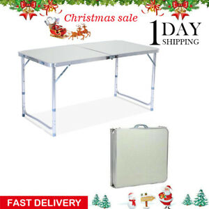 Party Camp Tables Folding Table Portable Plastic Indoor Outdoor BBQ Picnic New $29.25