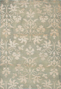 Hand knotted Carpet 5#x27;4quot; x 7#x27;10quot; Transitional Wool Silk Rug $293.00