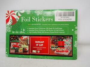 80 Count Foil Christmas Gift Tags Sticker,8 Jumbo Designs Xmas to from $7.91