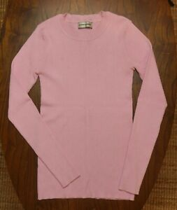 Pink Storm amp; Marie Stretch Knit Top Long Sleeves Crew Neck XS S Fine Sweater $35.00
