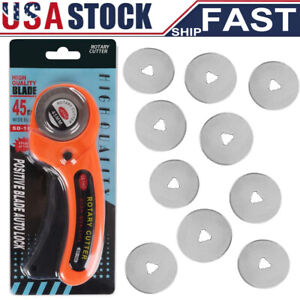 Rotary Cutter With 45mm Blade Sewing Quilters Fabric Leather Cutting Tool Set US $11.99