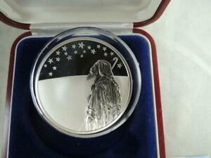 1999 Israel Biblical Art Stars Over Holy Land Abraham Silver Proof Coin boxCOA $108.00
