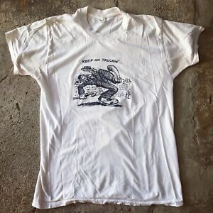 Vintage Robert R. Crumb T Shirt Keep On Truckin' 1970's Grateful Dead Large L $125.00