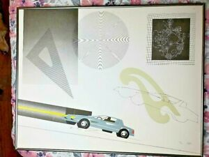 MINT Raymond Loewy signed lithographs w coa Limited Edition $255.00