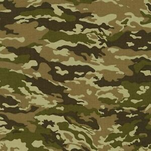 Camouflage By Sevenberry For Robert Kaufman Camouflage #D4 2