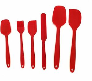Silicone Spatula Set 6 Pcs Heat Resistant Rubber Kitchen Utensils for Baking $10.50