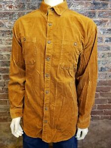 The Territory Ahead LS Button Up Shirt Textured Check Mustard Mens XLT Tall $39.99