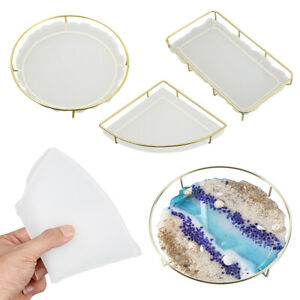 Resin Resin Moulds Silicone Tea Tray Tray Mould Fruit Plate Mold Coasters $12.05