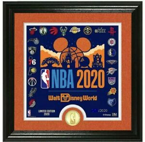 NBA Disney World #x27;#x27;Make History#x27;#x27; Framed Lithograph with Coin Limited 2020 $148.88