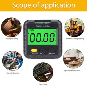 Magnetic Digital Inclinometer Angle Finder Electronic Protractor Measuring Tools $12.59
