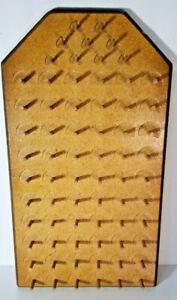 Vintage Wooden Hanging Sewing Thread Holder Spool Rack Holds 69 Spools 20 x11quot; $25.49