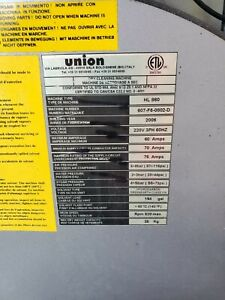 Union Dry Cleaning Machine $10500.00