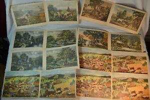 VINTAGE CURRIER amp; IVES LITHOGRAPH CARDS4 X 6 PHOTOS16 TOTAL $14.75