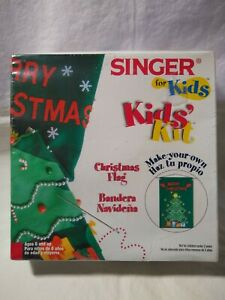 Singer for Kids Christmas Flag kit Unopened and sealed package #01911 8yrs amp; up $4.79