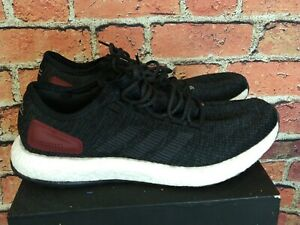 Adidas Running Pureboost Black Red Maroon Size 11.5 EXCELLENT CONDITION $54.99