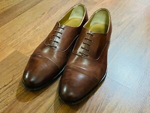 ACE MARKS CAP TOE OXFORD BROWN ANTIQUE LEATHER SIZE 10 E