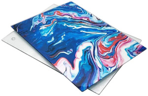 Cutting Glass Board 16 x 12 inch Set of 2 Square Marble Cutting Board for Kitche $29.14